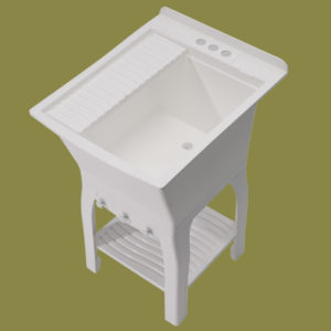 Compact and Rugged Laundry Tub