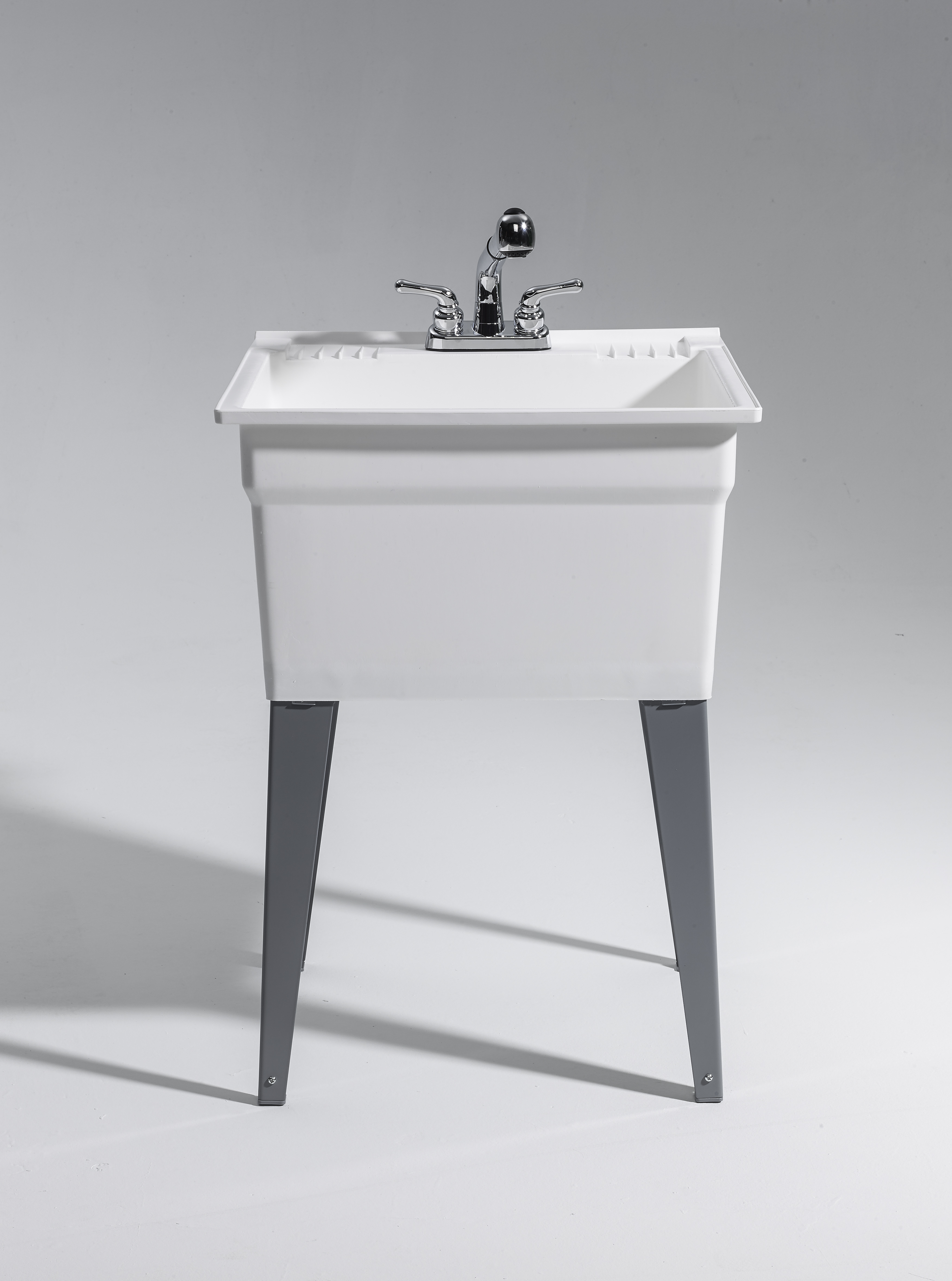 Laundry Sink With Faucet Heavy Duty Sink Complete Kit